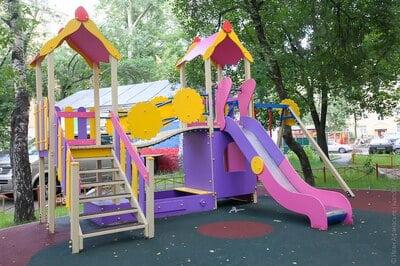 Цветовое оформление детской площадки