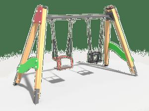 Качели детской игровой площадки 022