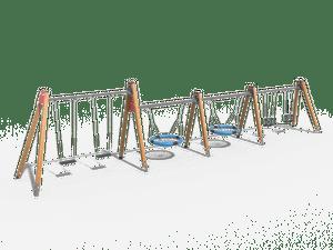 Качели детской игровой площадки 024