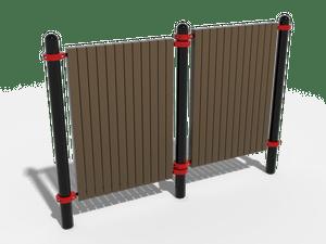 Паркур комплекс из двух стенок