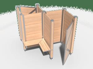 Пляжная кабинка двухместная