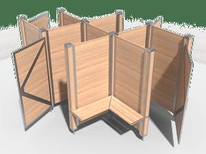 Пляжная кабинка четырехместная
