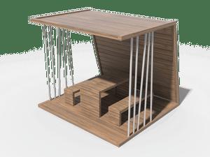 Беседка с лавками и столом