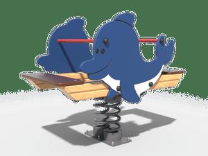 Качалка детской игровой площадки Дельфин