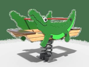 Качалка детской игровой площадки Крокодил