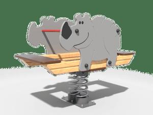 Качалка детской игровой площадки Носорог