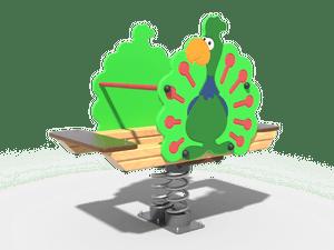 Качалка детской игровой площадки Павлин