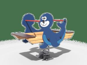 Качалка детской игровой площадки Тюлень
