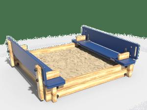 Детская игровая песочница 014 (с крышкой)