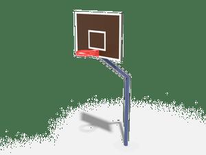 Элемент спортивной площадки Стритбольная стойка (без сетки) 01
