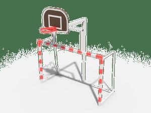 Оборудование для спортивных игр. Ворота с баскетбольным щитом (разборные, без сетки) 03