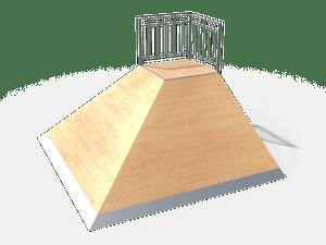 Элемент для скейт-площадки 01 Corner Bank
