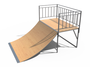 Элемент для скейт-площадки 03 Quarter pipe