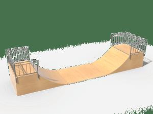 Элемент для скейт-площадки 04 Half pipe