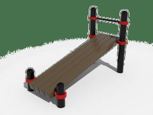 Наклонная скамья для упражнений на пресс