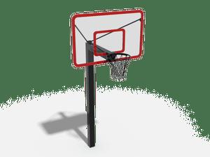 Стойка воркаут с тренировочным баскетбольным щитом