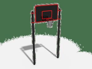 Стойка с тренировочным баскетбольным щитом
